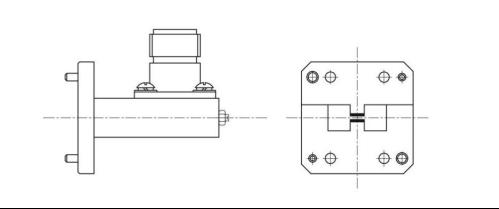 脊波导同轴转换  产品型号 频率范围 ( ghz ) 插损 ( db ) 驻波 (max.