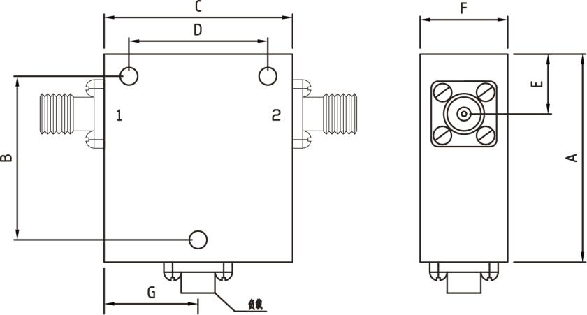 同轴型隔离器